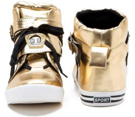 Zixer shoes Sneakers For Men  (Gold)