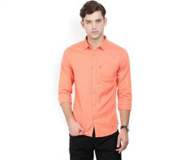 Men's Solid Casual Spread Shirt