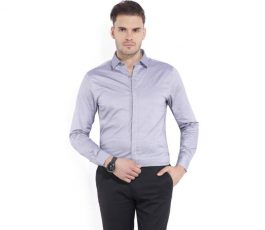 Colors of Benetton Men's Solid Casual Spread Shirt