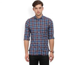 Men's Self Design Casual Shirt  Men's Self Casual Shirt