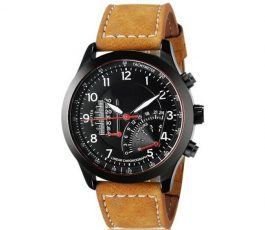Retail Stylish Pure Leather Brown Watch